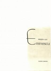 proza eminescu