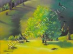 4.-Invazia-luminii-19x25cm-copac-in-poiana-tablouri-pictori-romani-Adrian-Stoenica-pictura-grafica-pastel-uscat-carton-lucrari-expozitii-galerii-arta-pasteluri-cretate-tablouri-de-vis-vanzare-cadouri-unice-150x112